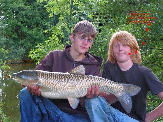 Ja das war ein Fisch....!! Graskarpfen kein Hecht
