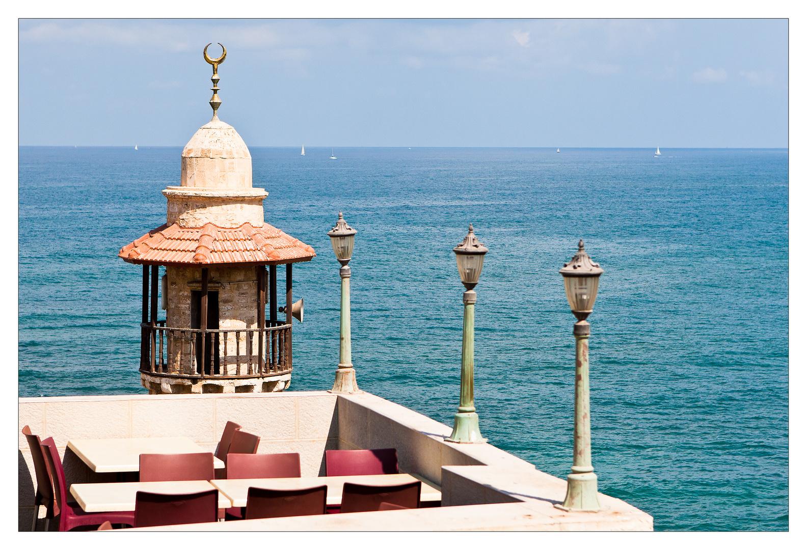 Jaffa - Meerblick mit Minarett