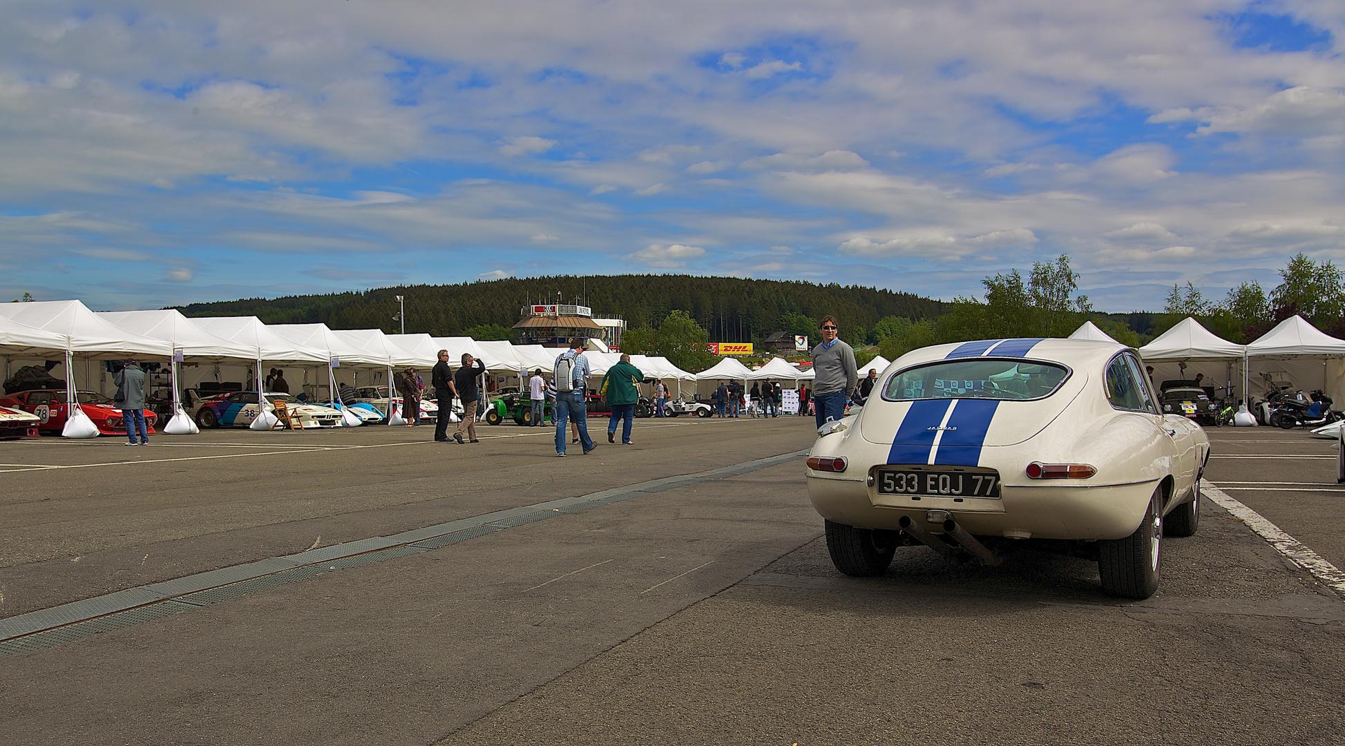 Jaguar E-Type, Fahrerlager Spa Classic