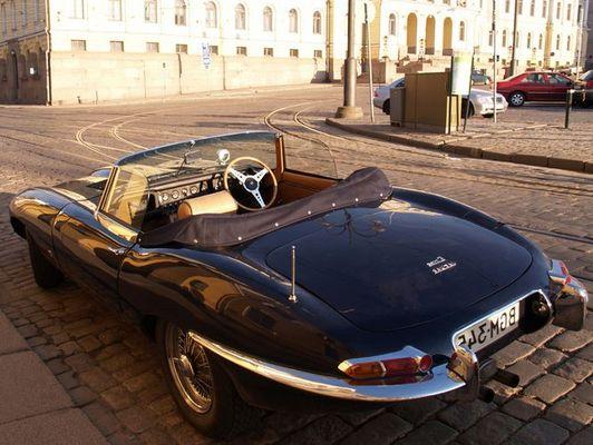Jaguar E-Type in Helsinki