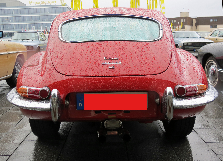 Jaguar Type E von hinten