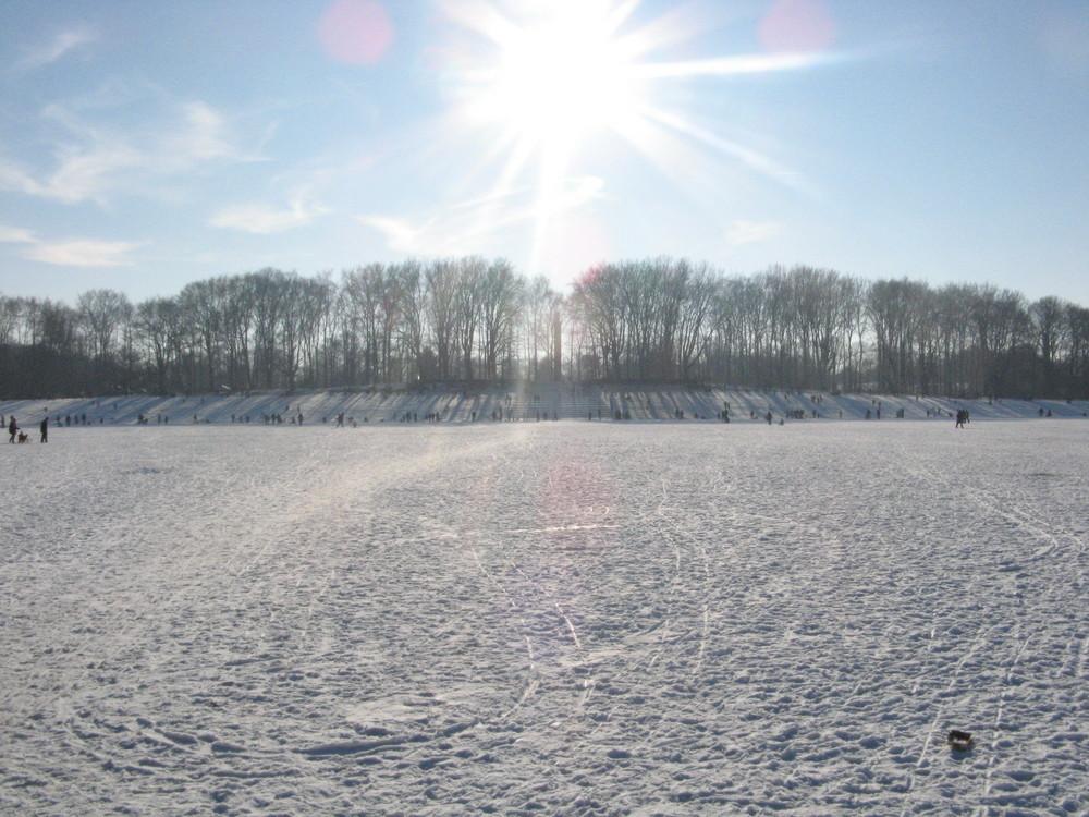 Jahnwiese im Schnee