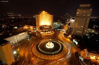Jakarta Indonesia at Night