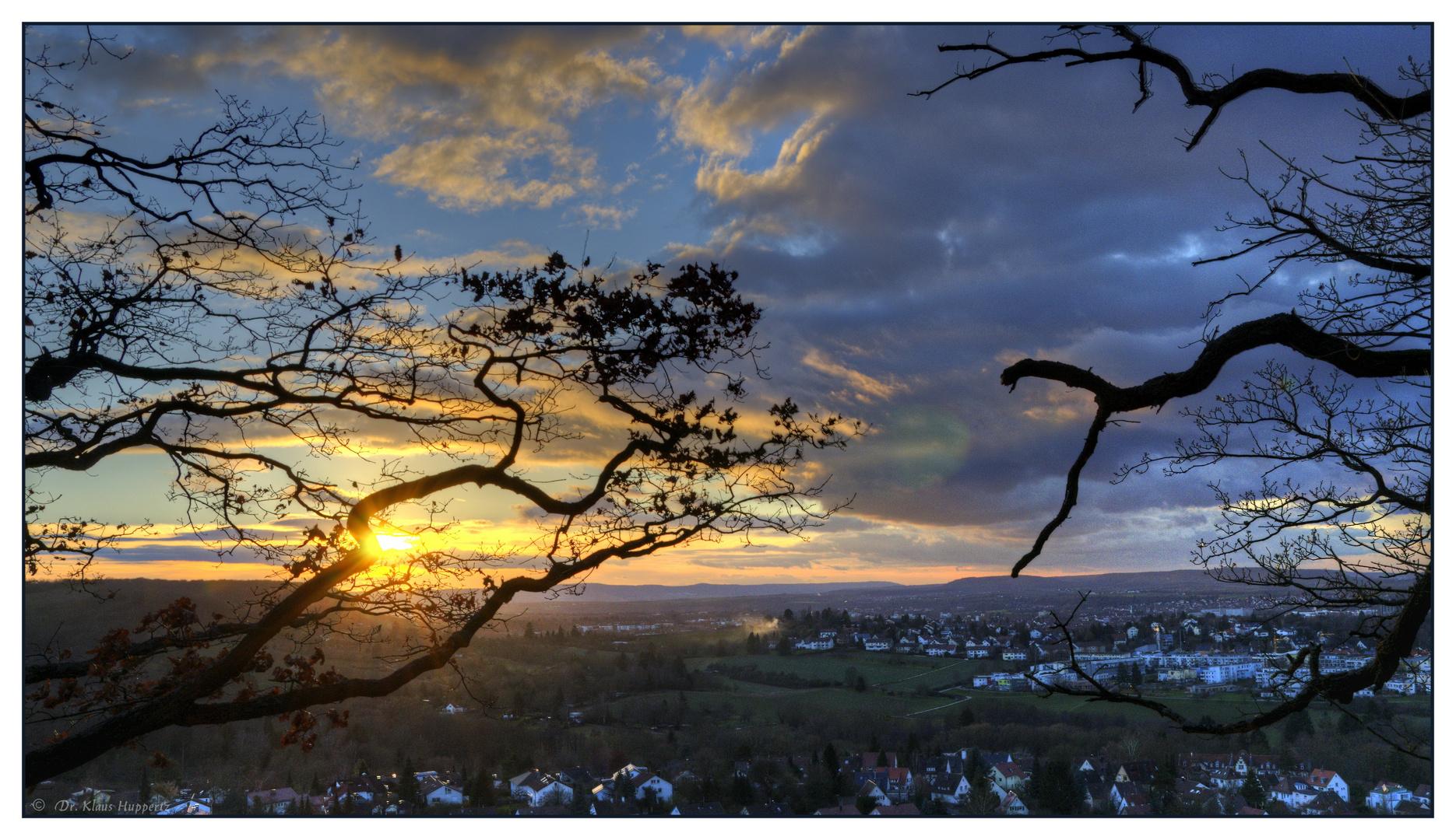 Januar-Sonne über Heilbronn