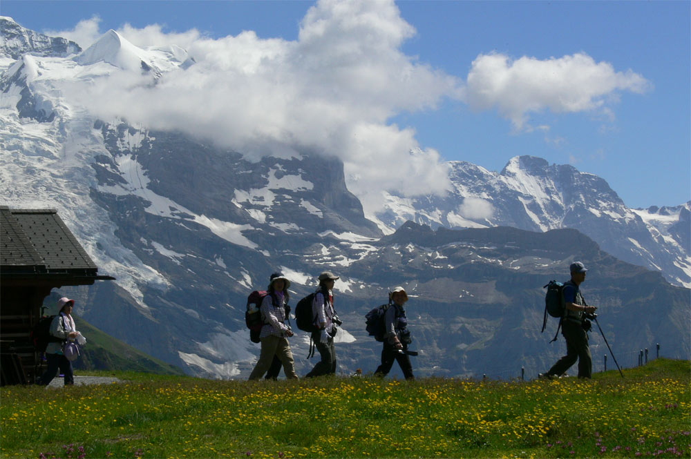 Japaner entdecken die Alpen