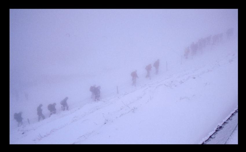 Japaner im Schnee