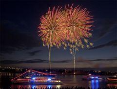 Japanisches Feuerwerk in Düsseldorf I