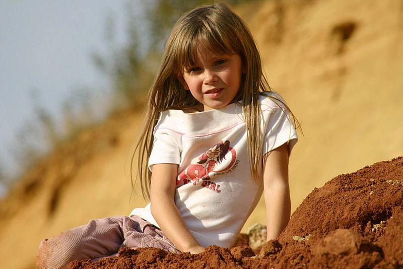 Jaqueline in der Sandgrube