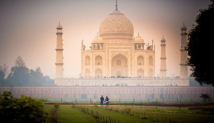 Jardin du Taj Mahal...