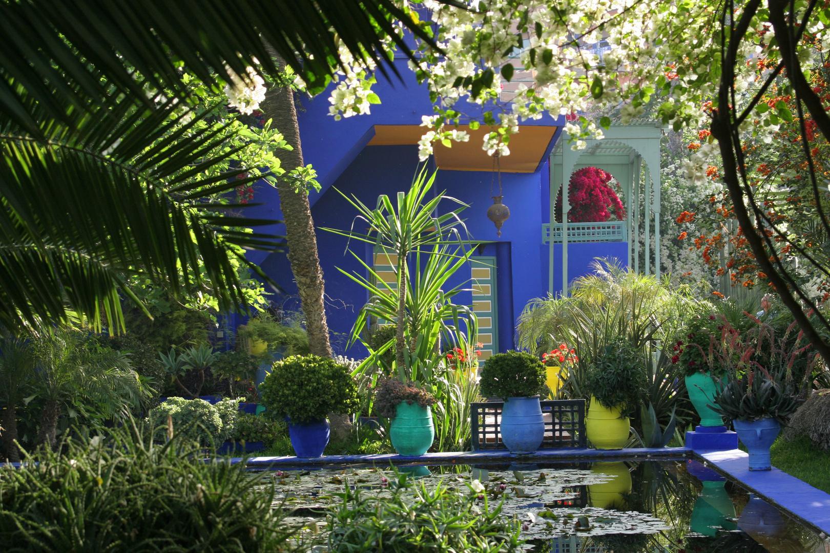 Jardin majorelle von yves saint laurent in marrakech 5 foto bild architektur profanbauten - Yves saint laurent jardin majorelle ...