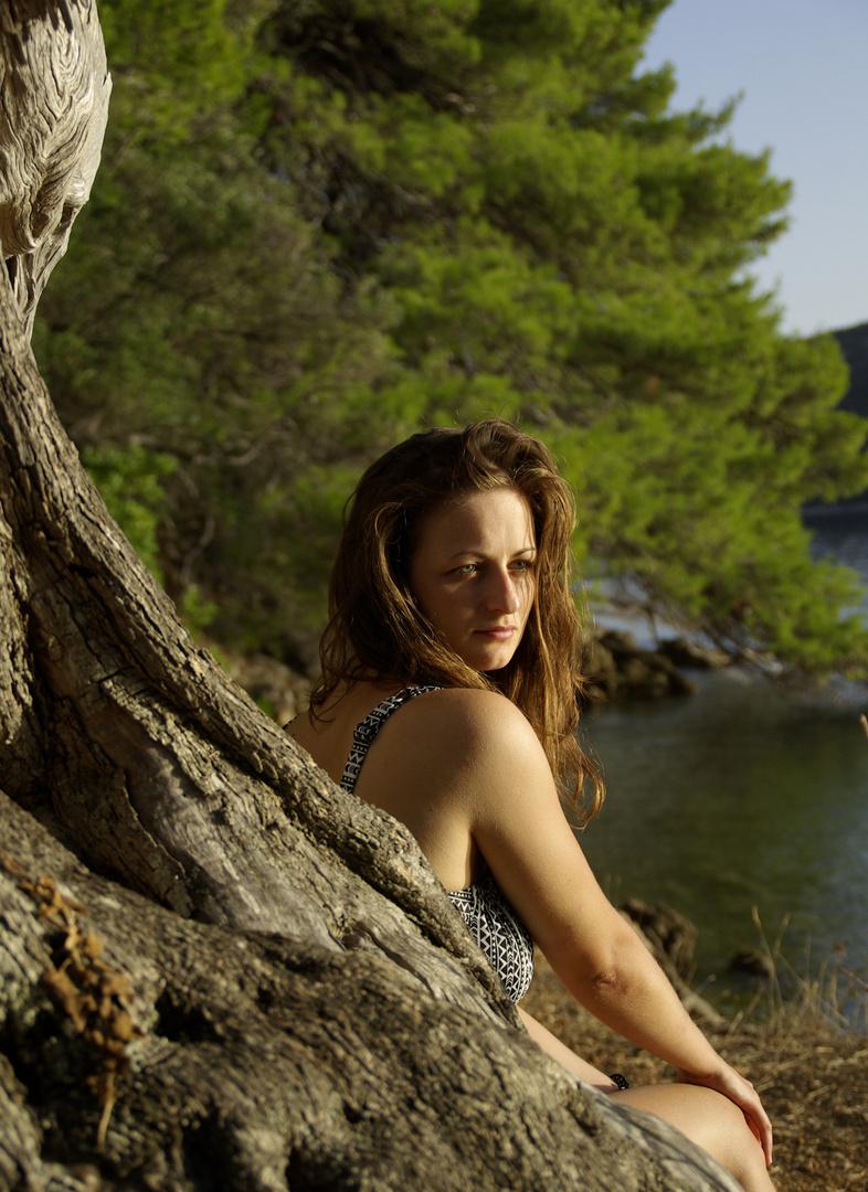 Jasmin am Strand