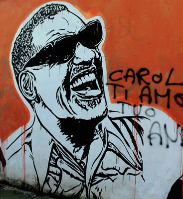 J.B.Rock, Wall of Fame. Street Art a Roma.