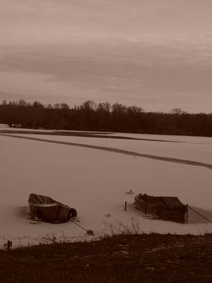 je suis gelé comme cet étang !