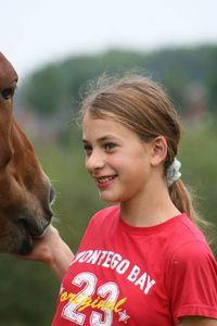 Jeanne sur le cheval
