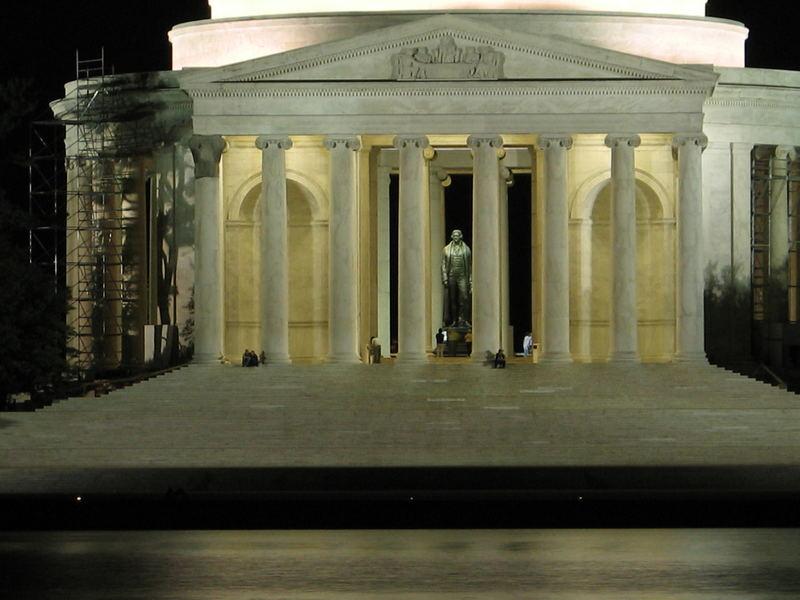 Jefferson bei Nacht