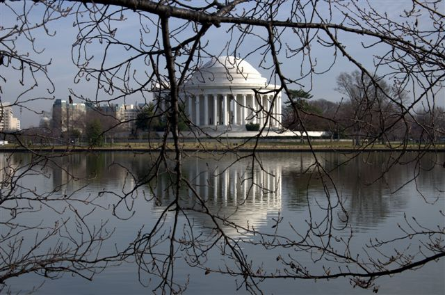 Jefferson Monument, Tidal Basin, Washington DC.USA