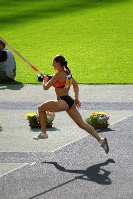 Jelena Issinbajewa bei der ISTAF
