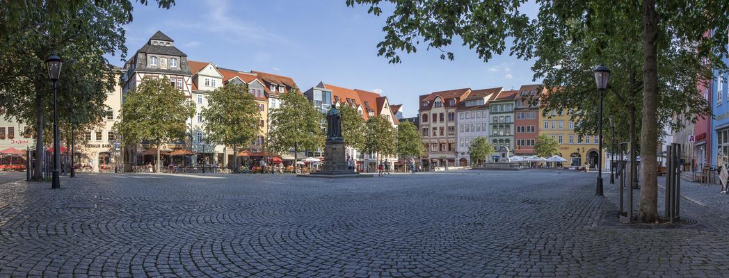 Jena Markt vom Stadtmuseum aus
