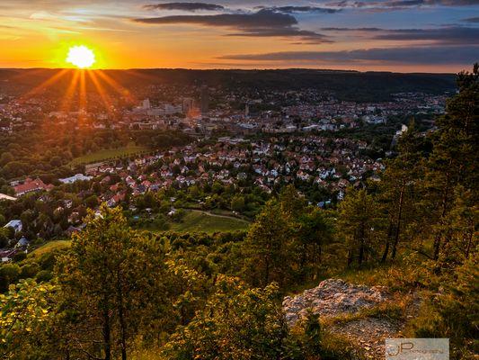 Jena Sonnenuntergang