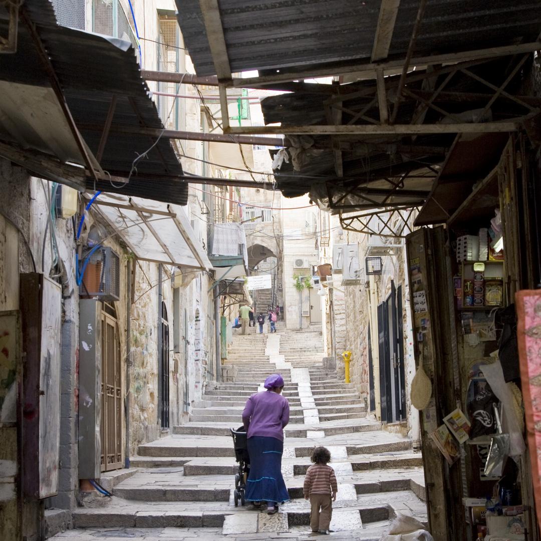 Jerusalem stille Gasse