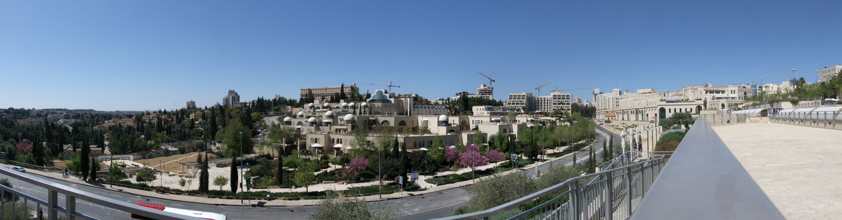 jerusalem vom jaffator aus gesehen, zu sehen im hintergrund das king david hotel