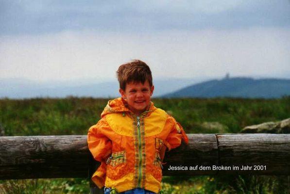 Jessica auf dem Brocken 2001
