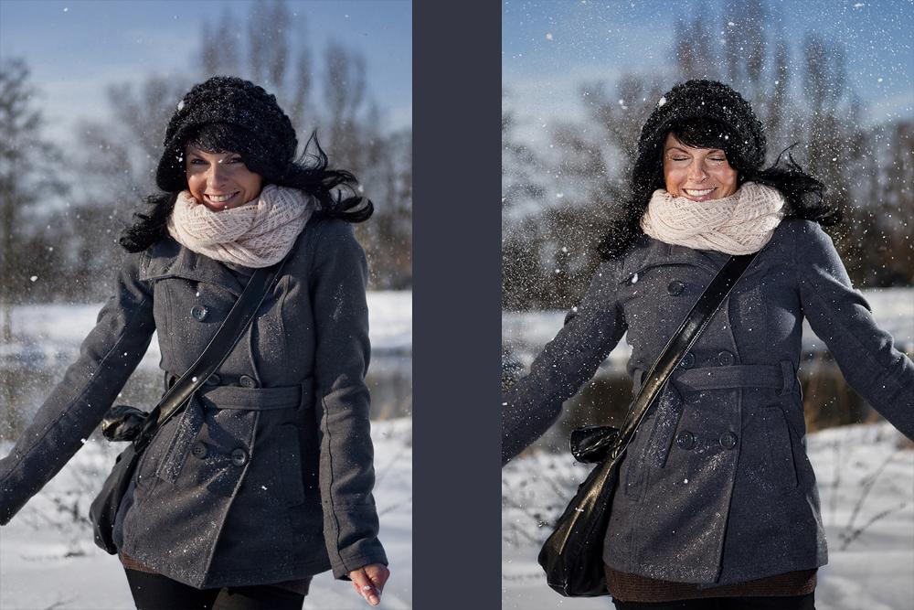 Jessica im Schnee