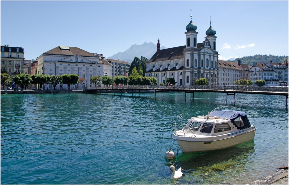 Jesuitenkirche St. Franz Xaver in Luzern, Luzern August 2013