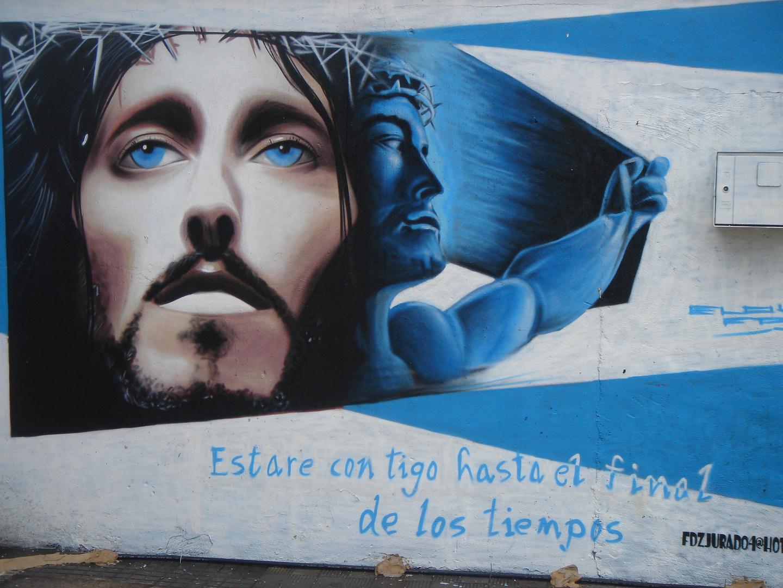 Jesus in graff.