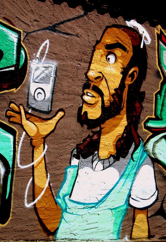 jesus listen to his ipod