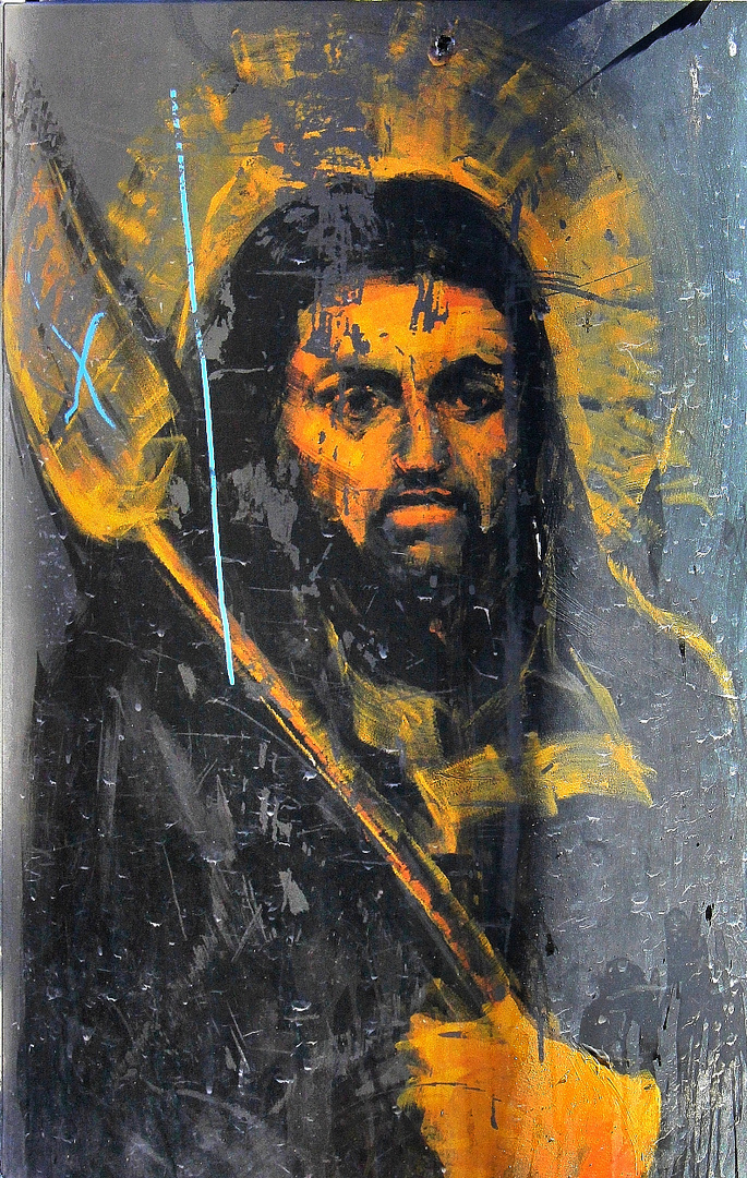 Jesus mit Fliegenklatsche ???