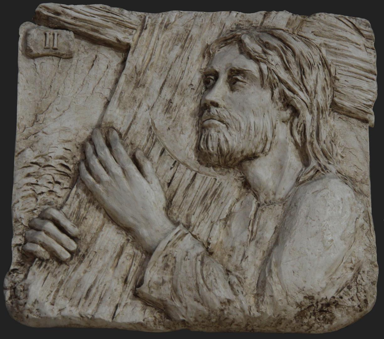 Jesus nimmt sein Kreuz auf sich