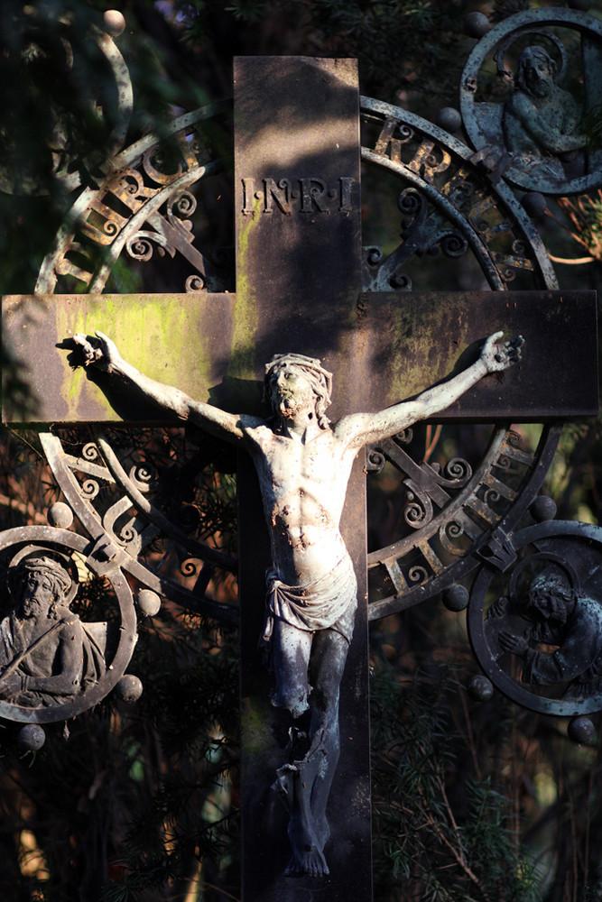 Jesuskreuz am alten Friedhof in Erkelenz
