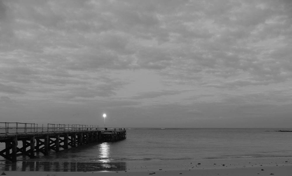 Jetty before sunrise