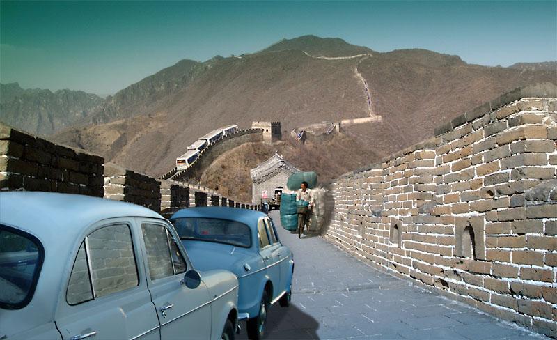 Jetzt ist die Grosse Mauer von China auch für den Strassenverkehr geöffnet