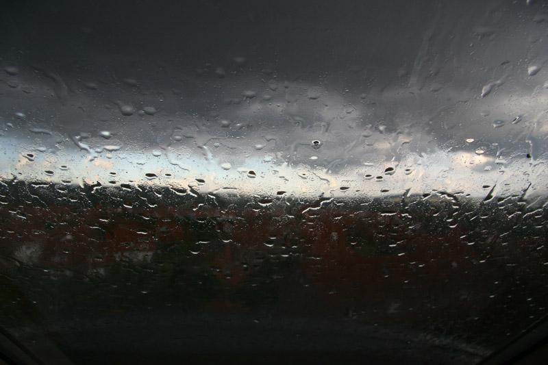 jetzt regnet es...