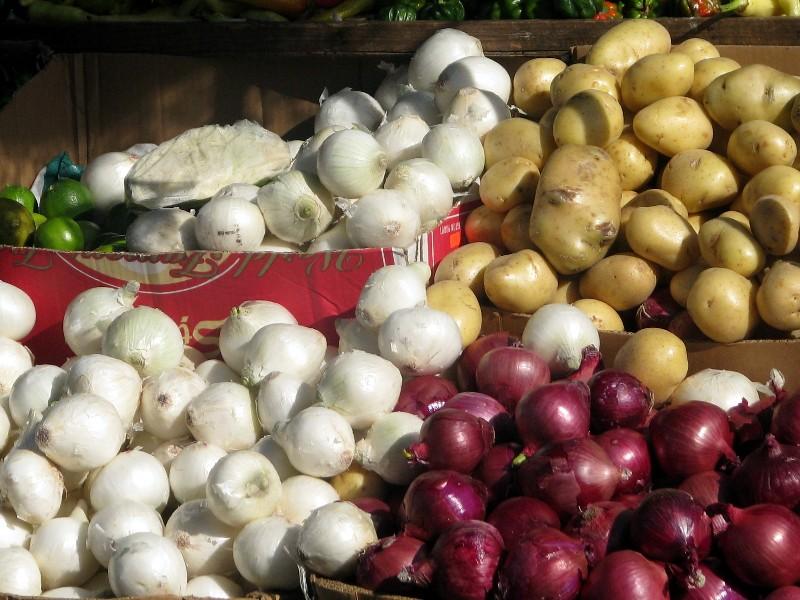jeu de couleurs au marché