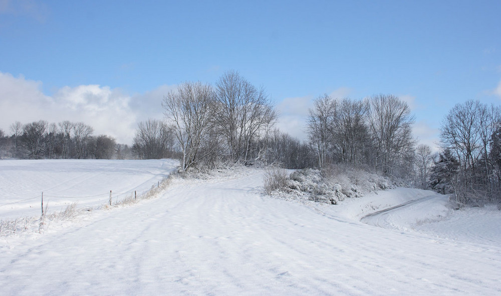 jeu de lignes hivernales