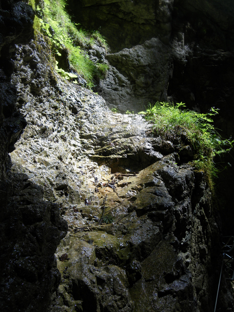 Jeu de Lumière dans la Leutaschklamm (Tirol)