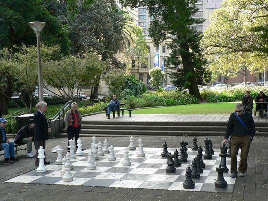 jeu d'échecs grandeur nature !!