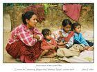 Jeune mere est ses 4 filles Talamarang Nepal