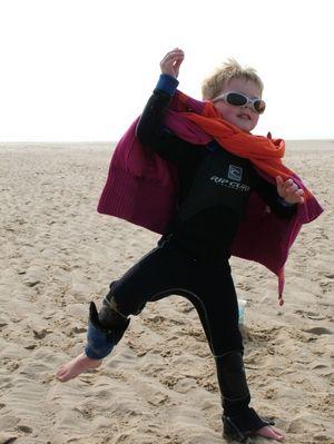 Jeux de plage: le danseur de flamenco