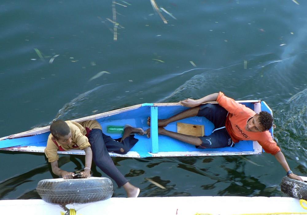 Jeux d'enfants sur le Nil