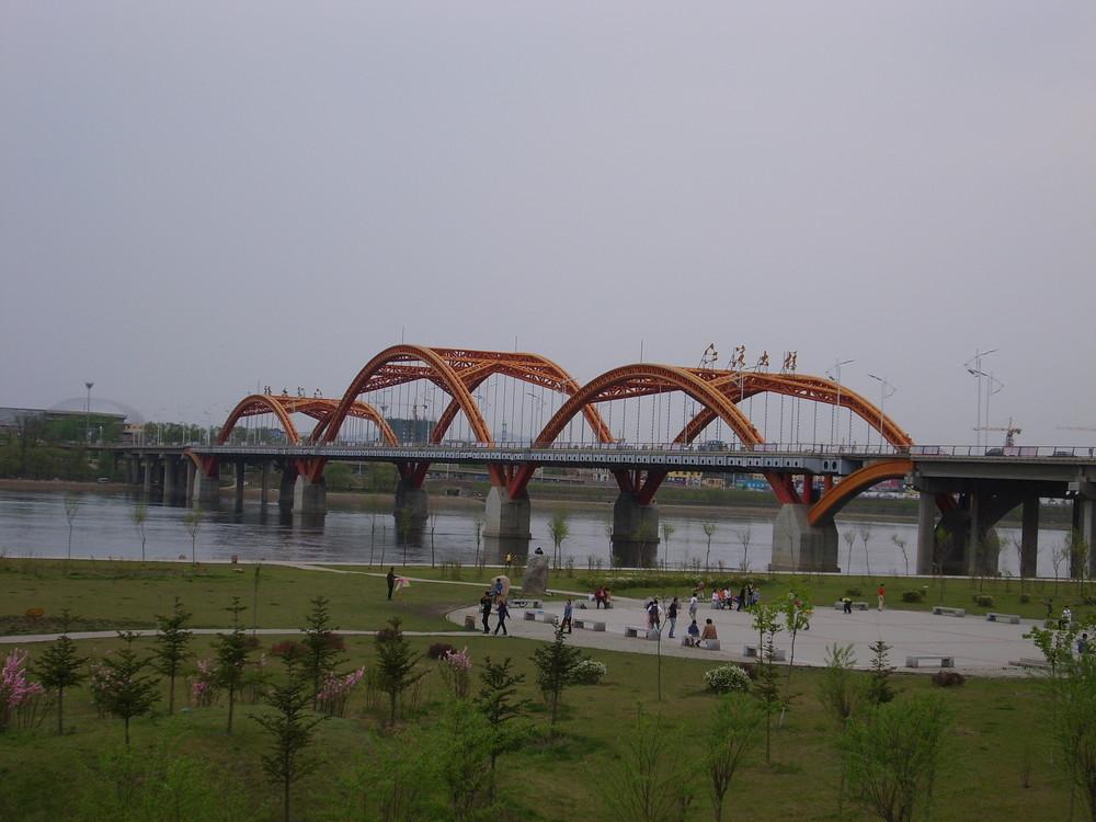 Jiangwan Brücke in Jilin-Stadt