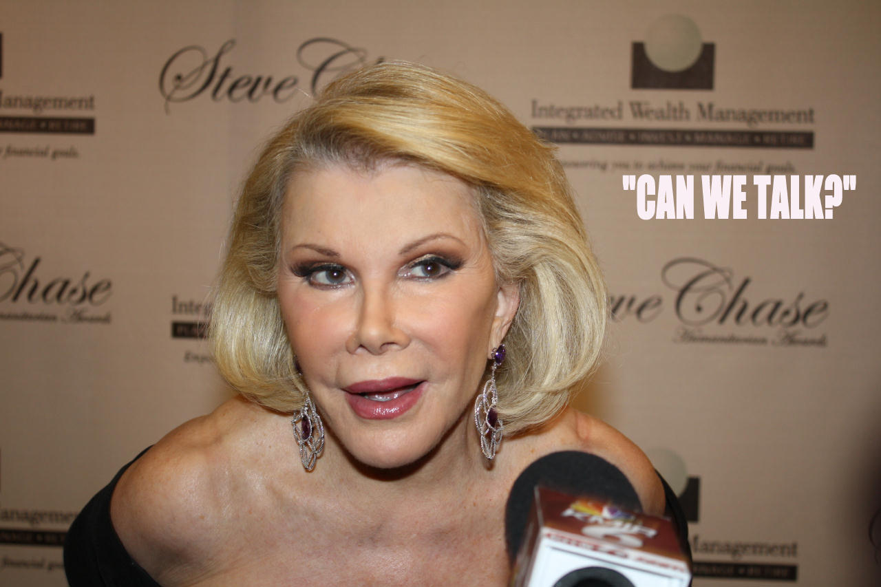"Joan Rivers ""Can We Talk"""