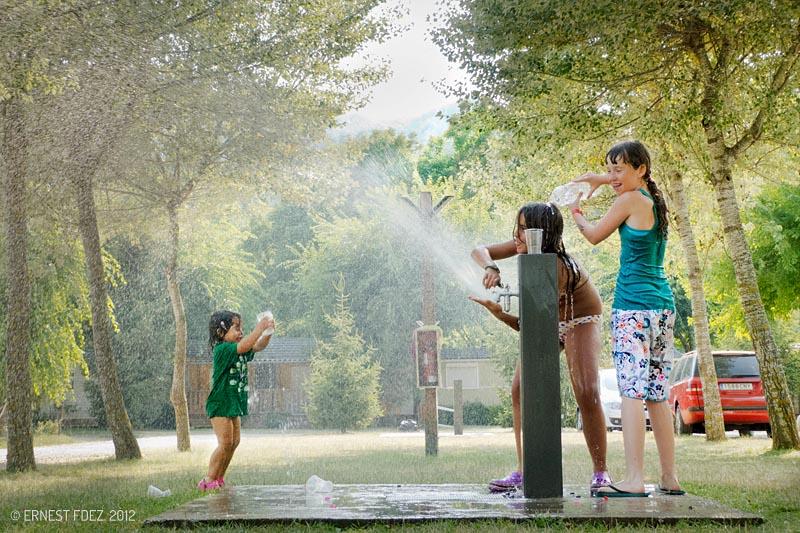 Jocs d'aigua al camping
