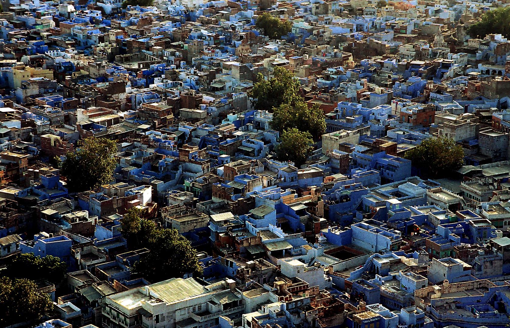 """Jodhpur die """"Blaue"""" oder """"Stadt des Lichts"""""""