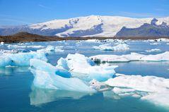 Jökulsárlón - die Gletscherlagune im Süden Islands