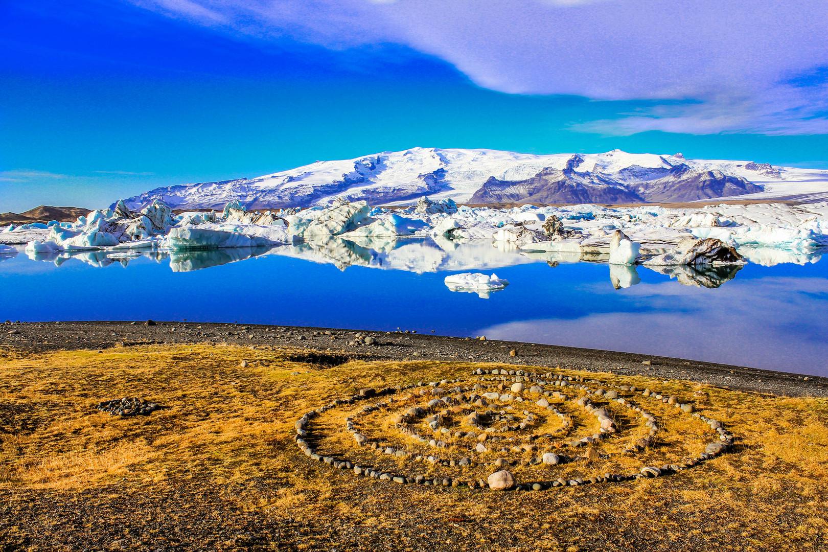 Jökulsárlón Floating Icebergs, Iceland