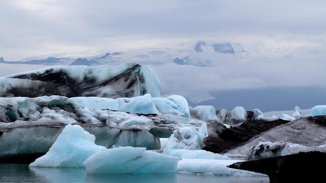 Jökulsárlón, Gletschersee, Island.